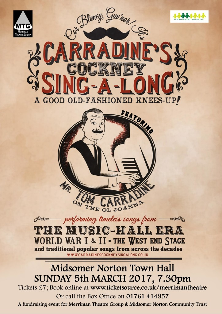 Carradine's Cockney Sing-a-long @ Midsomer Norton Town Hall | Midsomer Norton | England | United Kingdom