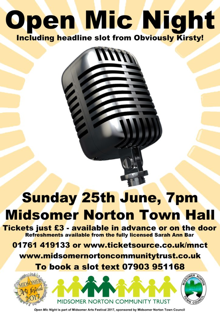 Open Mic Night @ Midsomer Norton Town Hall | Midsomer Norton | England | United Kingdom
