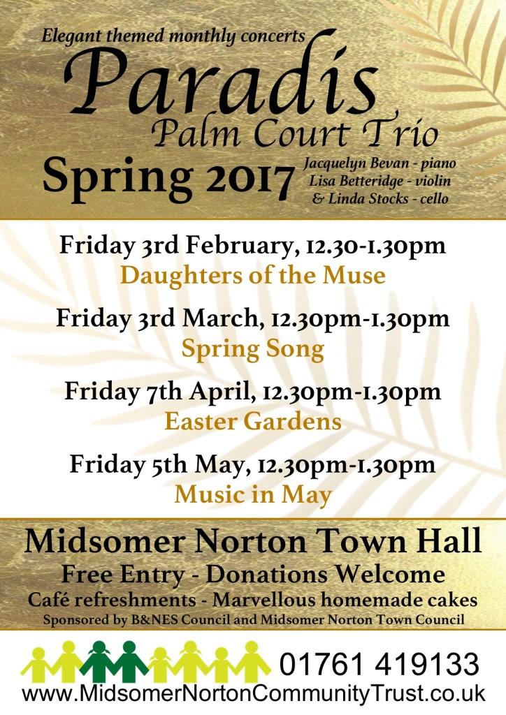 Paradis Palm Court Trio @ Midsomer Norton Town Hall | Midsomer Norton | England | United Kingdom