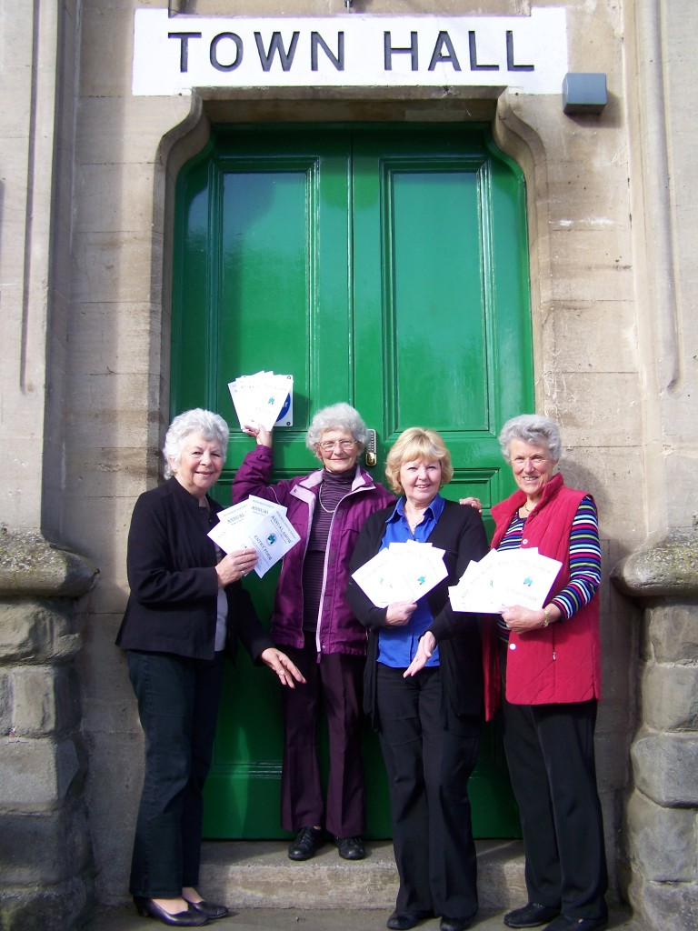 Town Show Organising Committee: Jenny Hillman, Patricia Flagg, Lynne Plumley and Rosemary Blatchford.