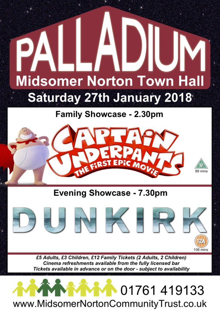 Cinema: Captain Underpants - The First Epic Movie @ Midsomer Norton Town Hall | Midsomer Norton | United Kingdom