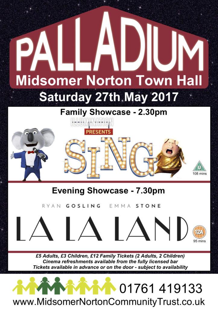 Cinema: Sing @ Midsomer Norton Town Hall   Midsomer Norton   United Kingdom