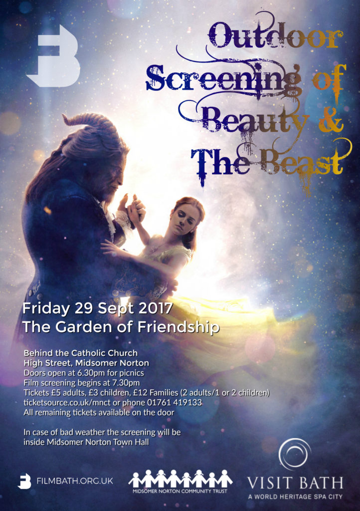 Outdoor Cinema: Beauty & The Beast @ Garden of Friendship | Midsomer Norton | England | United Kingdom