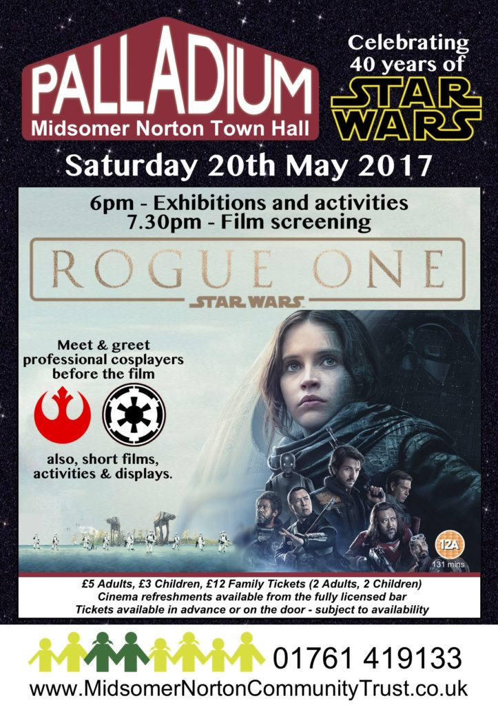 Cinema: Rogue One - A Star Wars Story @ Midsomer Norton Town Hall | Midsomer Norton | United Kingdom