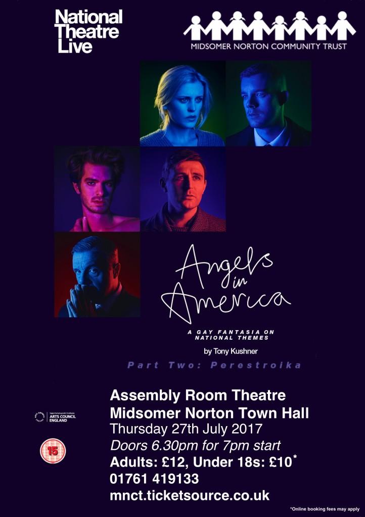 NT Live: Angels in America - Part 2: Perestroika (15) @ Midsomer Norton Town Hall | Midsomer Norton | United Kingdom