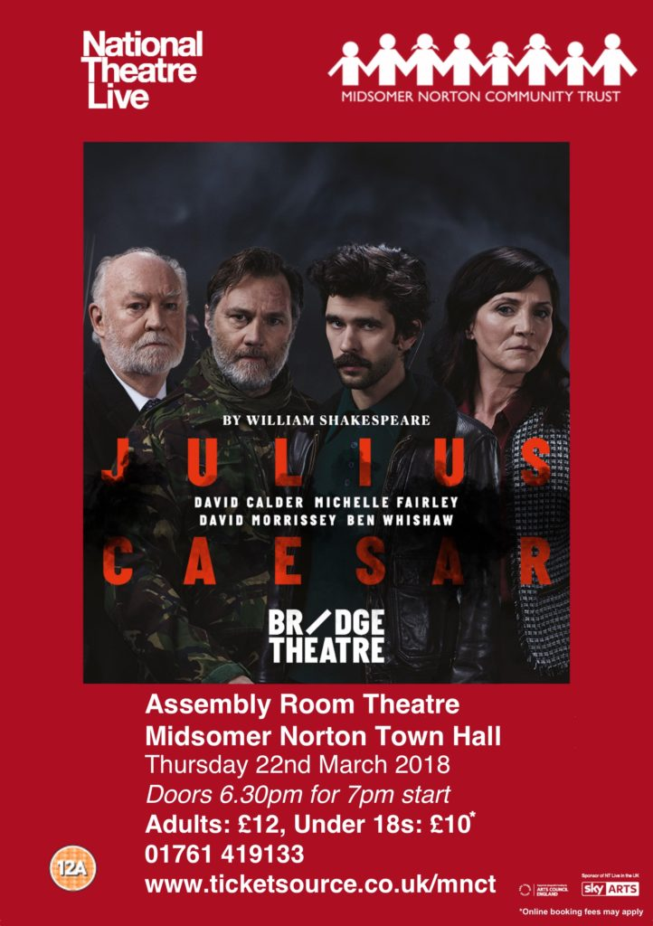 NT Live: Julius Caesar @ Midsomer Norton Town Hall | Midsomer Norton | United Kingdom