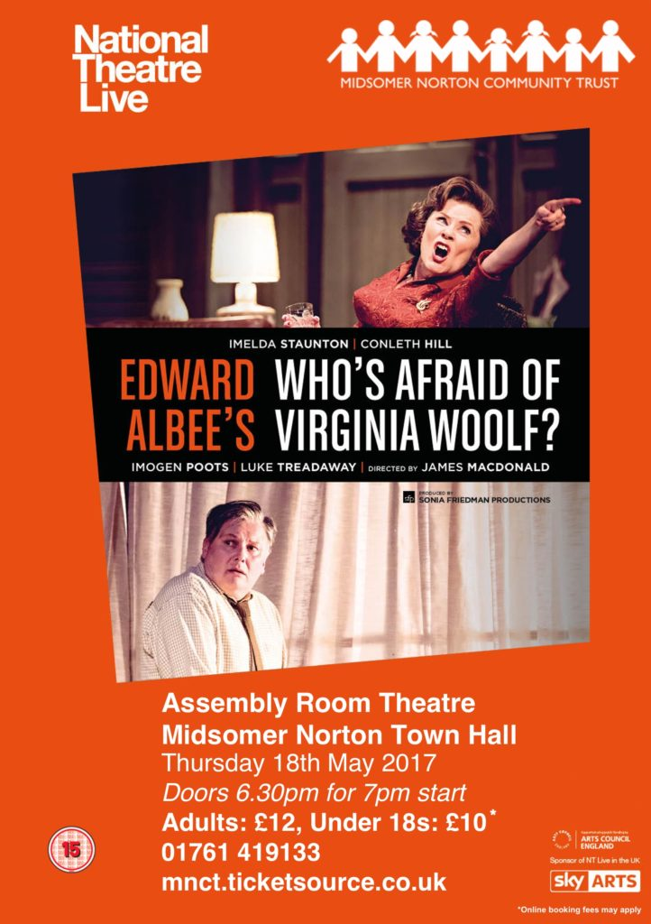 NT Live: Who's Afraid Of Virginia Woolf? @ Midsomer Norton Town Hall | Midsomer Norton | United Kingdom