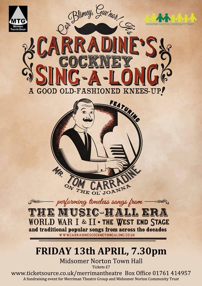 Carradine's Cockney Sing-a-long @ Midsomer Norton Town Hall | Midsomer Norton | England | United Kingdom