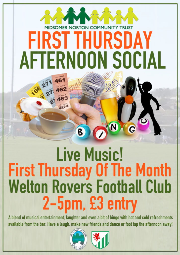 First Thursday Afternoon Social @ Welton Rovers FC | Midsomer Norton | England | United Kingdom