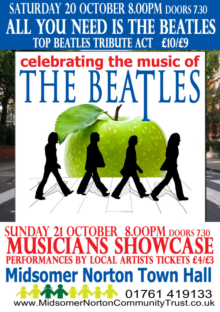 Live Music: 'All You Need Is The Beatles' (Tribute Band) @ Midsomer Norton Town Hall | Midsomer Norton | United Kingdom