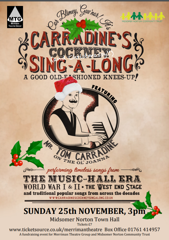 Carradine's Cockney - and Christmassy! - Sing-along @ Midsomer Norton Town Hall | Midsomer Norton | England | United Kingdom